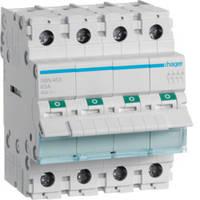 Выключатель нагрузки (рубильник) 400 В/63 А, 4-полюсный, 4м, (Hager)