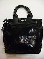 Сумка женская из лазерной кожи. Код 89740 черная., фото 1