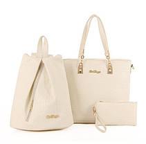 Восхитительный набор 3в1 сумка рюкзак косметичка, фото 3