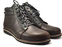 Большой размер коричневые ботинки мужские зимние кожаные Rosso Avangard BS Bridge Сomfort Brown Crazy Leather, фото 1