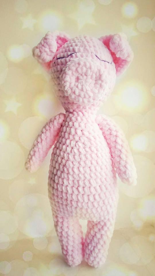 Свинка игрушка ручной работы, плюшевая - 40 см, 170 грн