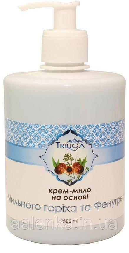 Крем-мыло аюрведическое жидкое Мыльный орех и фенугрек, 500мл , Triuga