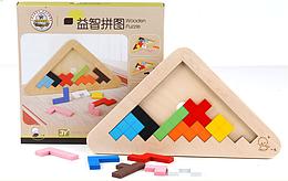 Игрушка-головоломка тетрис Деревянный 3D треугольник Wood