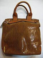 Сумка женская из лазерной кожи. Код 89740 коричневая., фото 1