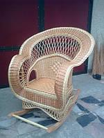 Кресло-качалка плетеная из лозы