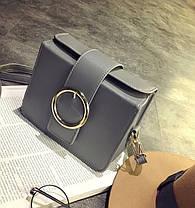 Каркасна сумка скриня з пряжкою, фото 3