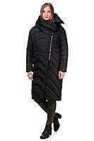 Молодежный пуховик женский зима  42-46 черный