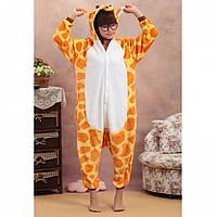 Теплая, мягкая пижама Кигуруми Жираф M (на рост 160-170см)