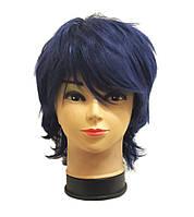 Парик женский темно-синий короткий аниме косплей cosplay