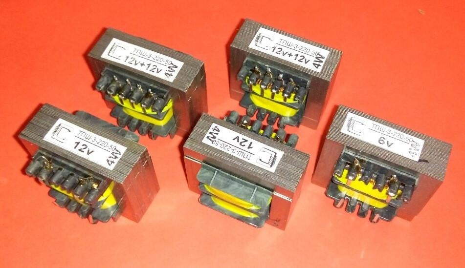 Трансформатор ТПШ-3-220-50 12+12В, 3Вт, 0,25А