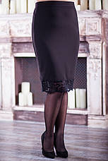 Нарядний костюм з спідницею для повних жінок, фото 3