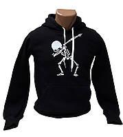 "Черная толстовка (худи) ""Skeleton dab"", фото 1"