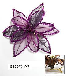 Зажим цветок Лотос 535642 большой