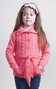 Детская кофта на пуговицах р 122-140 м 9541, разные цвета