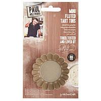 Форма для мини пирогов рифленая круглая 4 шт