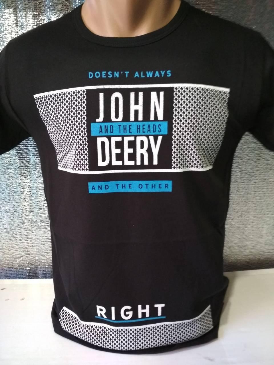 "Мужская футболка ""JOHN DEERY"" Турция опт р. M, L, XL, XXL"