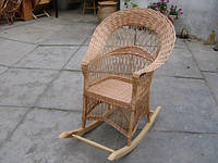 """Плетеное кресло-качалка """"Корона"""""""