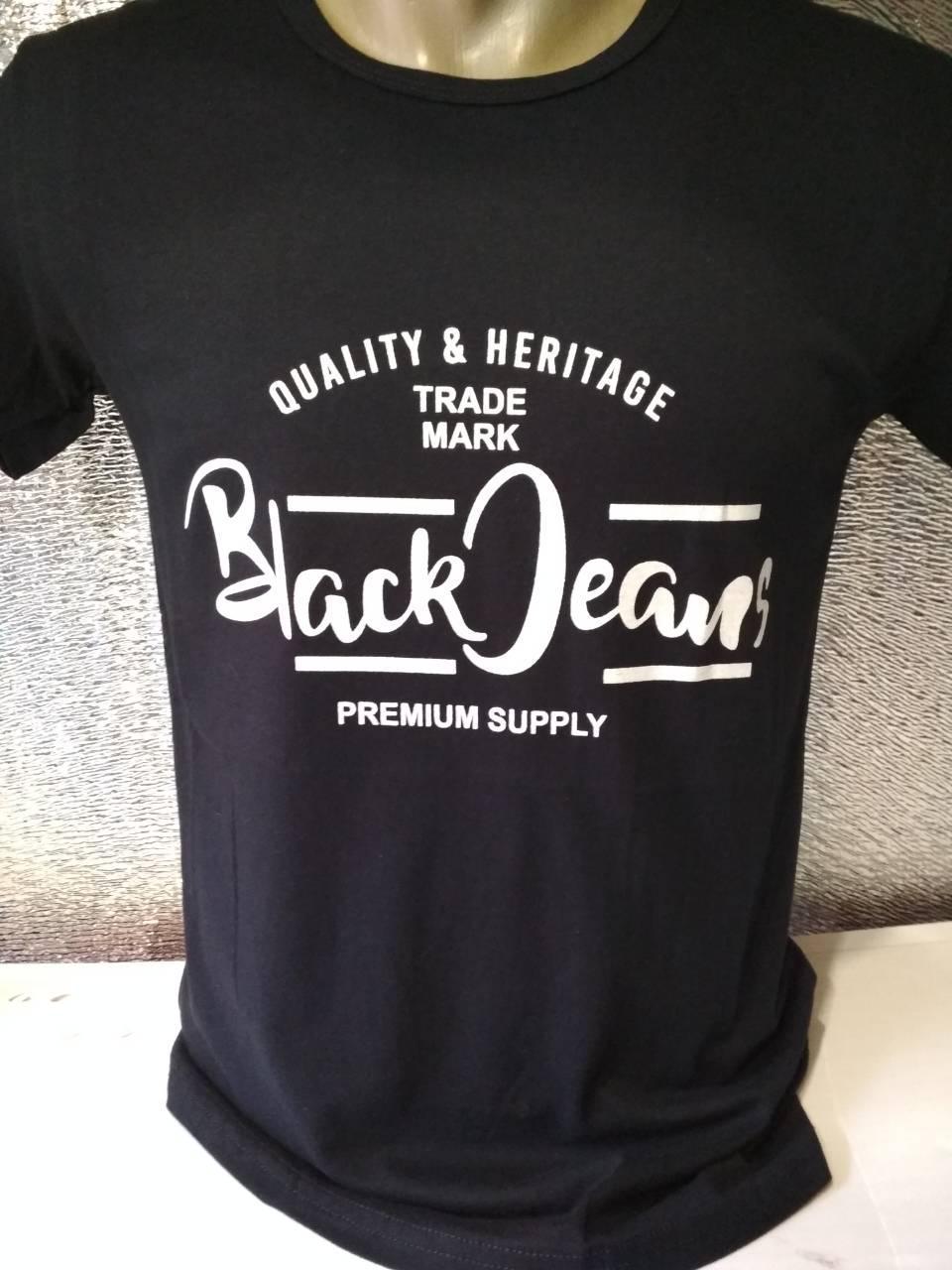 """Мужская футболка """"Black Jeans"""" Турция опт р. M, L, XL, XXL"""
