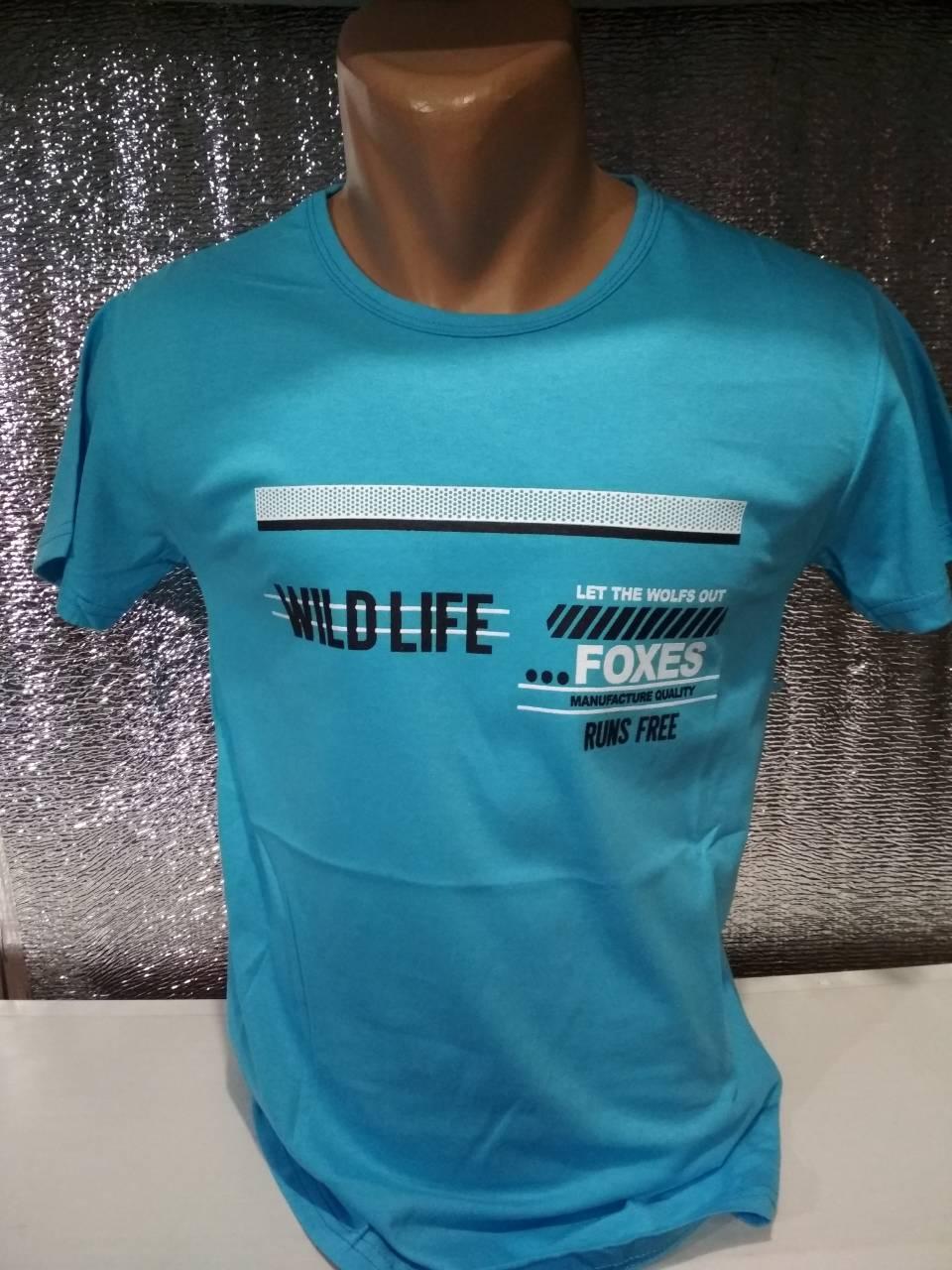 "Мужская футболка ""WILD LIFE"" Турция опт р. M, L, XL, XXL"