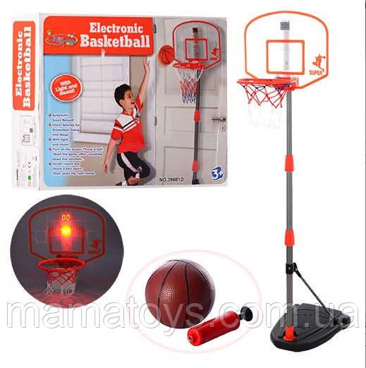 Дитяче Баскетбольне кільце на стійці 97-170 см M 3548 Звук, світло,