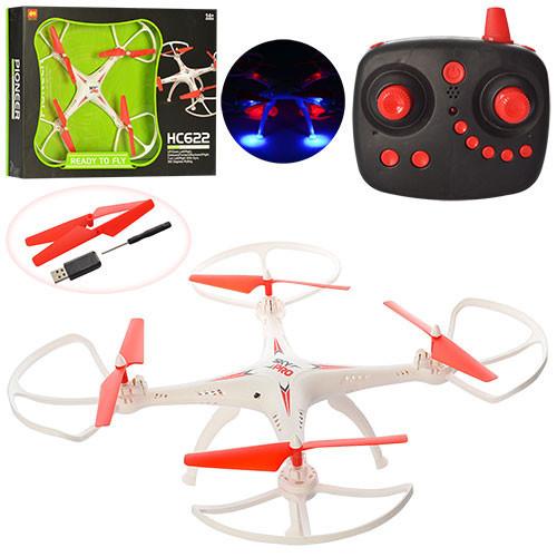 Квадрокоптер на р/у HC622 (14шт) з гіроскопом, світ. поворот на 360 гр.,акумуля. USB 2 види в кор. 52,5*9*36