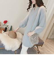 Жіноча стильна туніка кофта блакитного кольору