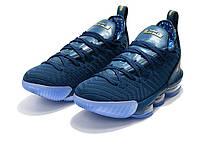 Баскетбольные кроссовки Nike LeBron 16 Blue Force Metallic Gold, фото 1