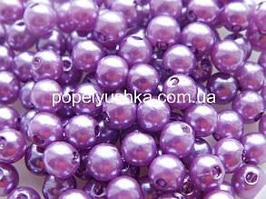 Намистини світло-Фіолетовий 6 мм пластик (50 шт)