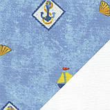Рулонні штори Дитячі Блекаут Моряки D-069 блакитний Швеція, фото 2