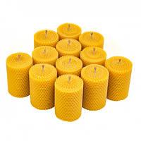 Набор Свечей Восковых Eco Candles Круглых 12 шт. (8,5х6 см), эко свечи из вощины, фото 1