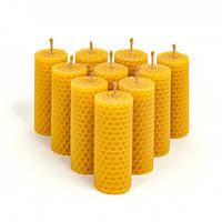 Набор Свечей Восковых Eco Candles Круглых 10 шт. (8,5х3 см), эко свечи из вощины
