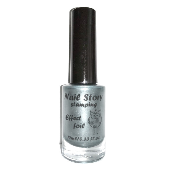 Лак для стемпинга серебро Nail story, 11 мл.