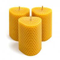 Набор Свечей Восковых Eco Candles Треугольные 3 шт. (8,5х6 см), эко свечи из вощины