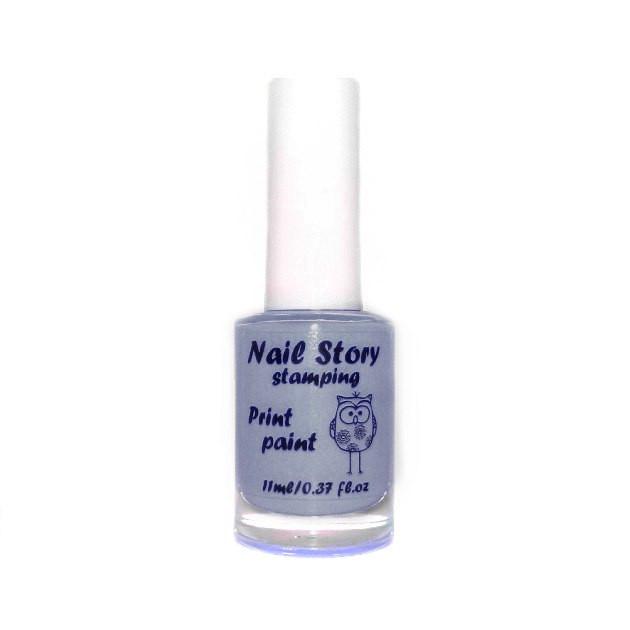 Лак для стемпинга серый Nail story, 11 мл.