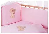 Детская постель Qvatro Gold AG-08 аппликация  розовый (мишка стоит с сердцем), фото 2
