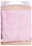 Детская постель Qvatro Gold AG-08 аппликация  розовый (мишка стоит с сердцем), фото 3