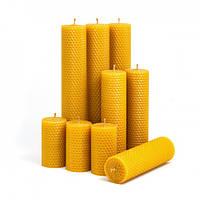 Набор Свечей Восковых Eco Candles Ассорти 9 шт. (17,5х4,5 см), эко свечи из вощины, фото 1
