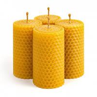 Набор Свечей Восковых Eco Candles Классические 4 шт. (8,5х4,5 см), эко свечи из вощины