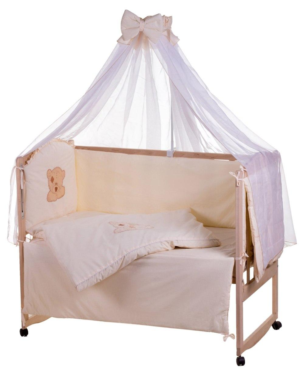 Детская постель Qvatro Ellite AE-08 аппликация  бежевый (мордочка мишка штопанная)