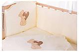 Детская постель Qvatro Ellite AE-08 аппликация  бежевый (мишка стоит с сердцем), фото 2