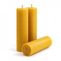 Набір Свічок Воскових Eco Candles Класичні 3 шт. (17,5х4,5 см), еко свічки із вощини