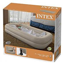 Велюр кровать INTEX 66810 беж. с бортиками ручной насос с сумкой в кор. 107*168*25см (3 шт)