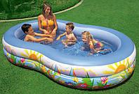 """Надувной овальный бассейн Intex 56490 """"Райское побережье"""""""