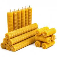 Набор Свечей Восковых Eco Candles Ассорти 18 шт. (26 см, 17,5 см, 8,5 см), эко свечи из вощины