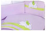 Детская постель Tuttolina Sleeping Cat (7 элементов) 65 светлосиреневый-салатовый (кот спит), фото 2