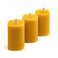 Набор Свечей Восковых Eco Candles Квадратные 3 шт. (8,5х6 см), эко свечи из вощины, фото 1