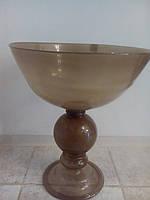 Ваза стекло коричневая напольная