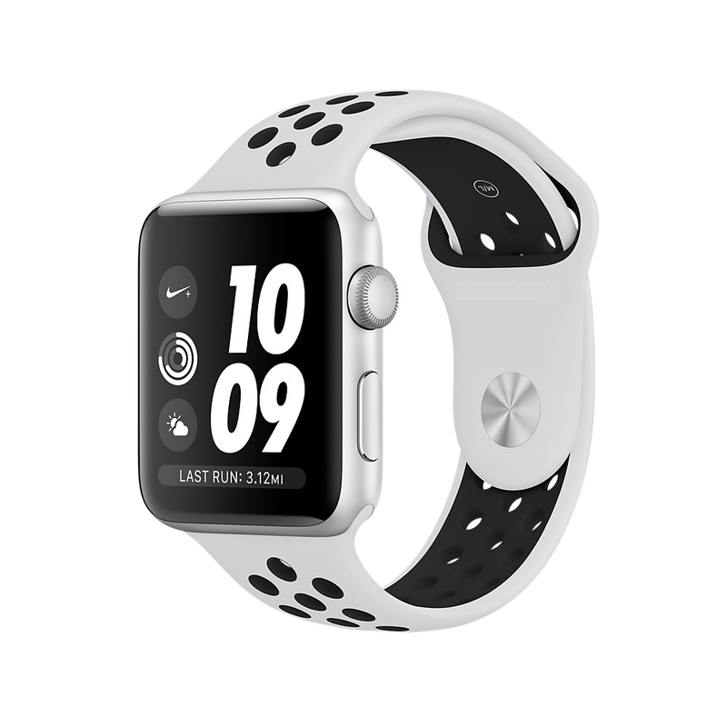 Ремешок Fitness для Apple Watch Series 2 Sport 42 mm White Black 412412, КОД: 179035
