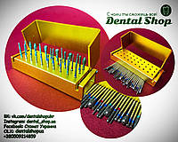 Стоматологические алмазные боры  для турбинного наконечника 30 штук + кейс в подарок C
