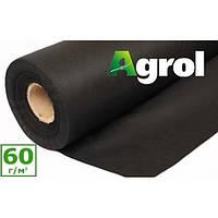 Агроволокно черное 1,6 x 100 м плотность 60 г/м. кв. мульчирующее Agrol